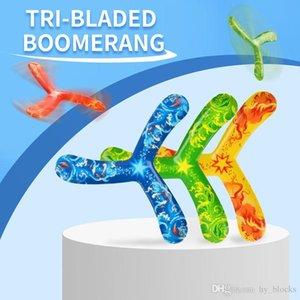Tri Bladed Boomerang Kids 야외 스포츠 장난감 다채로운 비행 접시 감압 선물 복귀 소년을위한 소년 소프트 장난감 06