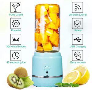 Electric Portable Juicer 400ml Automatic Multipurpose Mini USB Rechargable Juice Cup Blender Cut Mixer For Home