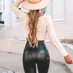 Melody wear high waisted faux leather leggings soft leather look leggings black faux