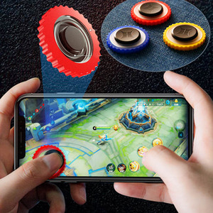 Q10 Gamepad handle phone Rocker For Iphone shell case holder Round Game Joystick fire trigger Walking Artifact for PUBG Controller