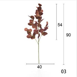 3 ألوان 90 سنتيمتر eucalyptus يترك زهرة اصطناعية يترك مكتب الاستوائية مكتب / المنزل / حفلات الزفاف حديقة المنزل مكتب الديكور HHE3400