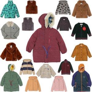 Çocuk Ceket 2020 Erkek Kız Sonbahar Kış Coat Kapşonlu Ceket Bebek Pamuk Kazak Rüzgar Geçirmez Hoodie Çocuk Giyim Giyim LJ201124