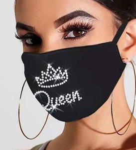 Diamond Mesh Designer Face Masks Adulto Bling Maschera Dust-Proof Strass Mouth Mask Maschera lavabile Personalizzata Night Market Mask FaceMask