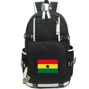 Ghana daypack Yellow Green Red flag backpack GHA country knapsack Banner schoolbag Computer rucksack Sport school bag Outdoor day pack
