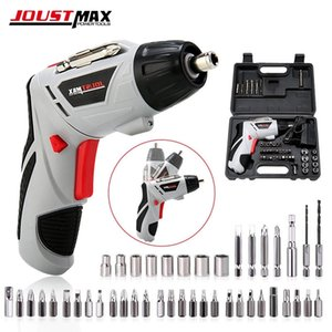 4.8V Mini Electric Screwdriver With LED Light Cordless Household Rechargeable Battery 45 Bits Multi-function Power Tools Dremel Y200321