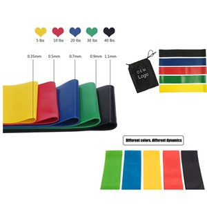 Resistance Bands 600x50x0.35mm Latex tension ring resistance belt squat motion Fitness Strength Training Natural Latex