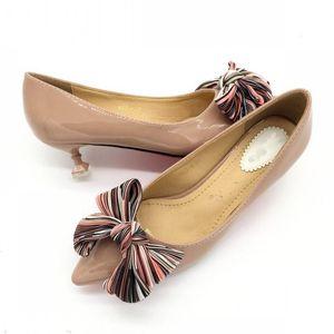 2020 Brand Women's Pumps Shoes Spring Autumn Ladies Thin Heel Women's High Heels Mid-Heel Females Wedding Footwear Red 40 41
