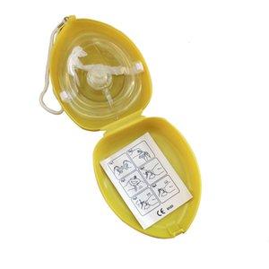 Avec poche 10 pcs / lot CPR masque de sauvetage Soupape à couper le souffle à sens unique pour la formation des premiers secours Équipement d'urgence Multir0eg 60lmo