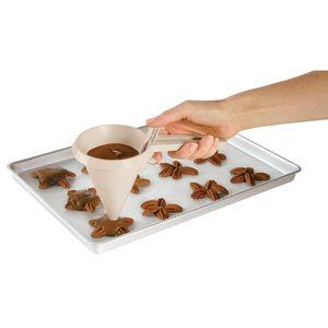 Mão White Funnel Funil Cozinha Prático Acessórios Creme Chocolates Chocolates Líquido Separador Bolo Ferramenta De Cozimento Venda Quente 1 8JB J2
