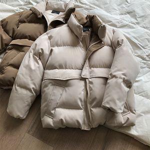 Пухлый теплый зимний HXJJP хлопчатобумажный 2020 версия корейской хлебской одежды Новый мягкий воротник Parkas Свободная куртка женский ОБПАА