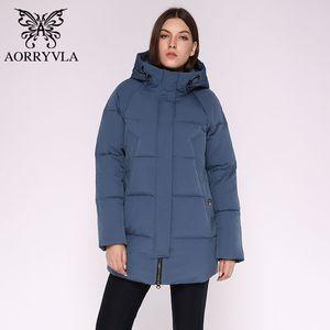 AORRYVLA Casual Mujeres Chaqueta de invierno con capucha larga con capucha acolchada acolchada femenina abrigo de alta calidad Outwear Women Woman Parkas Plus Talla 201125