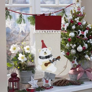 Fireplace Tree Christmas Decoration Creative Knitted Christmas Stockings Tree Pendant Desktop Ornaments