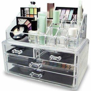 Hot Style Cosmetic Organizer 4 Drawer Jewelry Makeup Case Storage Clear