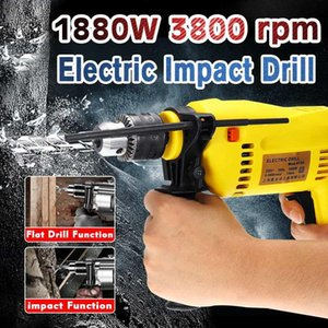 220V 1880W Electric Impact Drill Brushless Handheld Electric Rotary Hammer Drill Multifunction Torque Driver Screwdriver