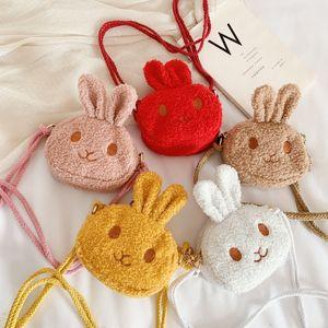 Детский подарок супер милая детская сумка мини плюшевый кролика мешок сумка девушка монеты кошелек