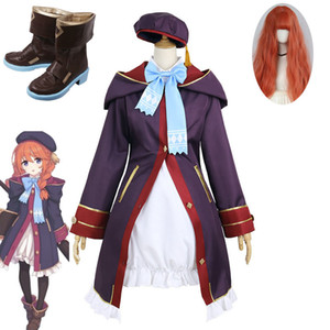 High Quality Game Princess Connect Re:Dive Uni Cosplay Costume Cute Girl Dress Cosplay Wig Shoes