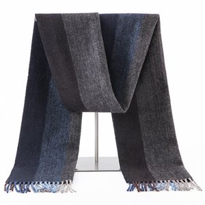 100% Lamb Scarf Strip Solid Plaid Wool Scarf Luxury Classical Warm Long Soft Cashmere Winter Scarves for Men Winter Accessories C1121