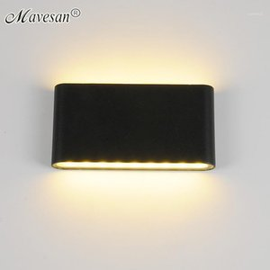 Mini LED Wall Lights Black White Waterproof For Bedside Stairway Courtyard Corridor Indoor &Outdoor Home Sconce For AC90-260V1