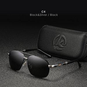 KDEAM ALUMINUM LOGO y sus gafas al aire libre Plaza Polarized Magnesium Sunglasses de sol de lujo UV400 Gafas personalizadas Propios para hombre IPCJG