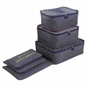 LIYIMENG Waterproof Clothes Organizer Household Portable storage Box Underwear Bra Packing Travel Cloth Storage Bag 6pcs set Z1123