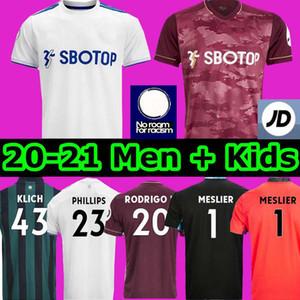 Homens + Crianças 20 21 Leeds camisa de futebol home Reino LLORENTE R. 2020 2021 Harrison COSTA Alioski Klich Hernandez BAMFORD CLARKE jérsei de futebol