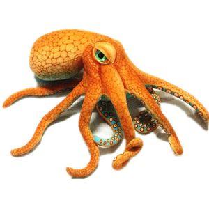 55~80cm Giant Simulated octopus Stuffed Toy High Quality lifelike Stuffed Sea Animal Doll Plush toys for Children Boy Xmas Gift Y1116