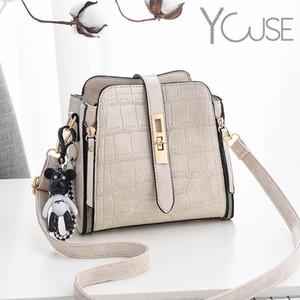 Камень узор милый медведь кулон плечо мешок сумки крокодил дизайнер ведро скрещивание сумка леди маленькие кошельки и сумки Q1127