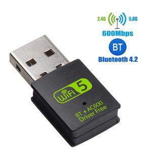 600 Мбит / с WiFi USB-адаптер Бесплатный драйвер с Bluetooth 2 в 1 двойной диапазон 5 ГГц LAN Ethernet Adapter USB сетевой картой