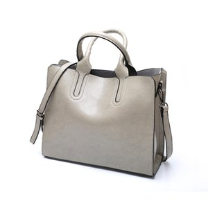 Women bag Women's Leather Handbags Purse Lady Hand Bags Pocket Women messenger bag Big Tote Sac Bols grey handbag