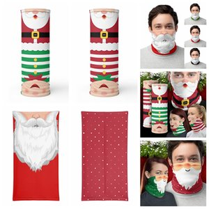 Chirstmas Shield Bandana Face Outdoor Sports Magic Headscarf Headband Visor Neck Gaiter Christmas Decoration Gifts party mask GWE1694
