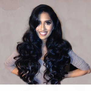 Glueless Brasilian Hair Silk Base Full Lace Wig Body Wave Human Silk Base Lace Frente Peluca Para Negros
