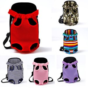 12 Designs Pet Carrier For Cat Dog Bag Front Chest Backpack Five Holes Canvas Puppy Outdoor Portable Travel Bag Tote Bag Pet Supplies