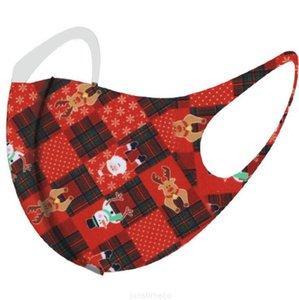 Крышка Helloween Рождественские маски снежинки тыква олень рождественские рот Хэллоуин печатанный лицевой маски моющийся мультфильм анти пыль рождественской маски