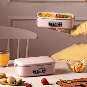 220V lancheira elétrica caixa de arroz inteligente panela portátil multicooker tridimensional aquecimento aquecimento preservação de calor caixa de cozinha1