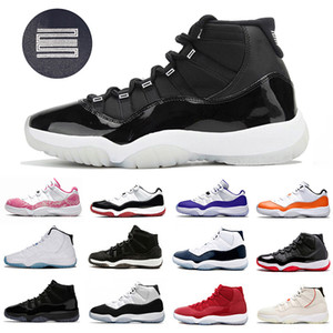 Jubilee 25e anniversaire Jumpman 11 Mens Basketball Chaussures 72-10 Bred Low Concord Concorce Unc 11s Cap et Robe Space Space Jam Hommes Sports Sports Sports Sports