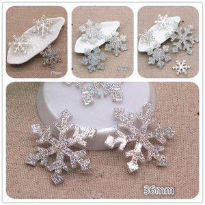 17mm 26mm 36mm Kawaii Resin Glitter AB Snowflake Flatback Cabochon DIY Hair Bow Center Scrapbooking Craft