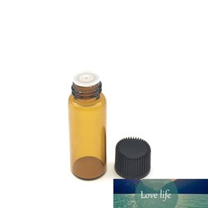 Hot Small 5ml Amber Glass Bottle with Orifice Reducer Mini Essential Oil Bottle Perfume Sample Tubes Vials via DHL