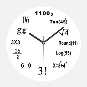 Wall Clock Silent For Kids Rooms Gift Simple Bedroom Math Equation Home Decor Office Modern Battery Powered Pointer Acrylic
