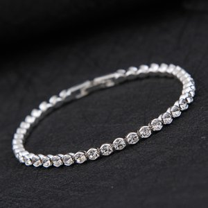 Diamond Crystal Bracelet Silver Gold Plated Bracelet Bangle Cuff Bands for Women Fashion Wedding Jewelry drop shipping