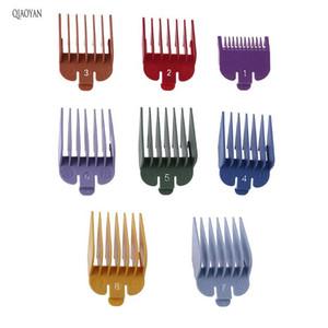 8 stücke Universal Hair Clipper Limit Kammführung Befestigungsgröße Friseur Ersatz Hair Styling Werkzeug ACC WMTXSH