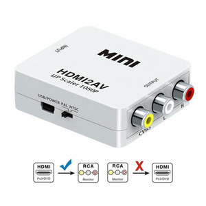 HD 1080P HDMI2AV Video Converter Box HDMI a RCA AV / CVSB L / R Video Soporte de video NTSC PAL Salida HDMI a AV Adaptador 50x