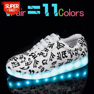 Rayzing Light Up Shoes Noche de los hombres LED Luminoso Zapatos USB Carga fluorescente Unisex LED Brillante Ghost Shoes # yk7k