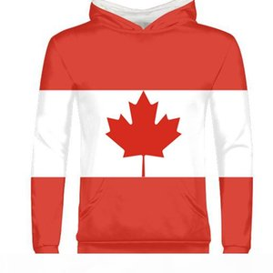 CANADA men youth student boy diy free custom made name number country pullover nation flag ca logo college print photo sweatshirt