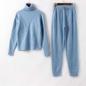 Autumn Winter Knitted Tracksuit Women Knitted Sets Women Two Piece Set Top and Pants Casual Suit