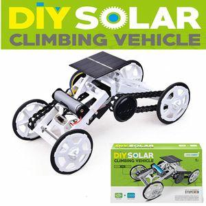 Subo DIY008 Solar Power Science and Education Spell Four-Wheel Criming Car، تجميعها