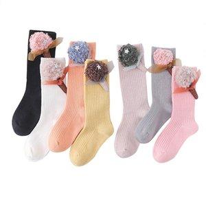 Princesa meias de algodão Knee Lawadka Socks para meninas do bebê do outono inverno alta infantil para adolescentes Moda Longo Meias