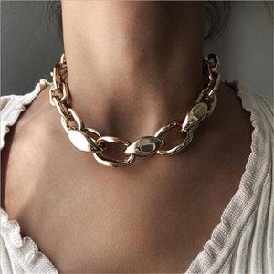 Chains Peri'sbox Caixa de Caixa de Alteração Colares de Ouro Colares Misturaram Círculo Linkado para Mulheres Minimalista Gargantilha Colar Jóias