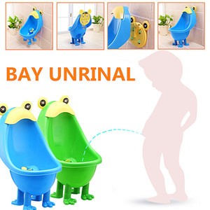 Baby Frog Urinal Toilet Children Stand Vertical Urinal Pee Potty Kid Potty Training Boy Standing Wall-Mounted Or Place On Ground LJ201110