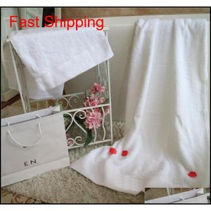 White 2pcs Towels Fashion Pattern Bath Towel Set Soft Skin Friendly Cotton Face Towels Bathroom Must To jllItm yummy_shop