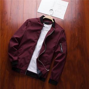 2020 Autumn Brand New Black Aviation Bomber Jacket Men Streetwear Slim Fit Pilot Bomber Jacket Coat Men Jackets Plus Size 4XL